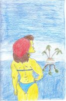 Ruth Powers Sea Gazing by DeeAyAich