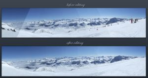 Before and after editing by Siccie