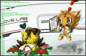 Ovi and Lilith the.... chao? by Forusu