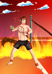 AoH Tennis Red Rider Shuto Flames of Competition by KumoriNinja08
