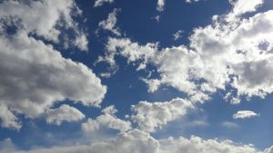 Blue sky with clouds by Kalosys-stock