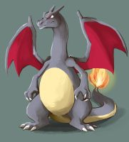 Shiny Charizard by Silverkiwi78