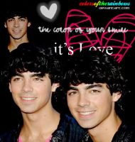 Joe Jonas Blend by colorsoftherainbows