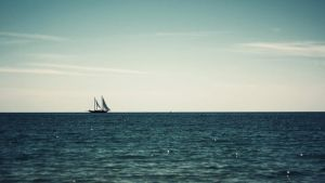 Boat In The Sea by yousefcia