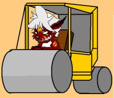 Zeo and his road roller by lorduria