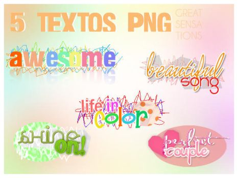 5 TEXTOS PNG by greatsensations