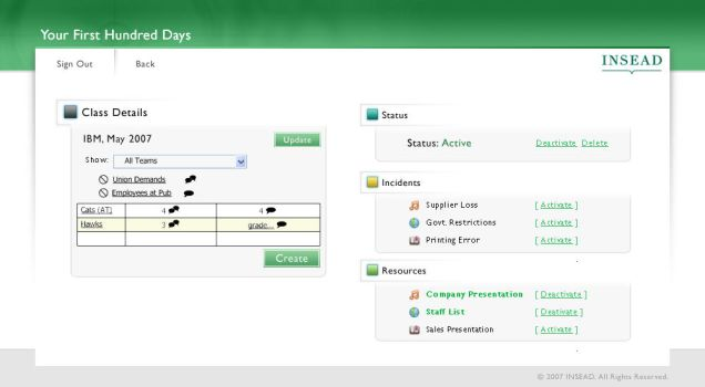 INSEAD: Admin panel by axdimensions