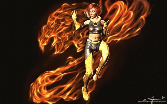 Jean Grey aka The Phoenix by draftbeer80