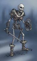 Skeleton Warrior colour by Domigorgon