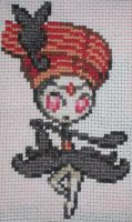 Pokemon Cross Stitch Meloetta Pirouette Forme by Quina-chan
