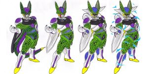 Cell (Frieza Absorbed and Cooler Absorbed) by DBZ2010