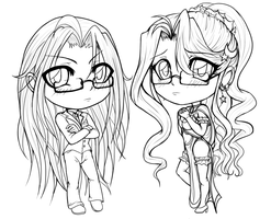 Chibi Goodness [Lines] by NuciComs