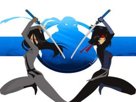 Double Katana WALLPAPER by Dr-Innocentchild