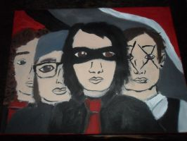 MCR Canvas Painting by littleblackmariah