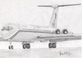 Airplane drawing by Anonymous-partners
