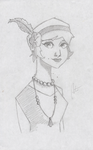 1920's Flapper by Open-Circle