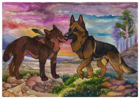 Together - Gara and GSD by 25Nanao16