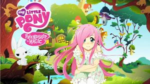 Anime Fluttershy (Wallpaper ver.) by Sazuko