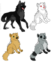 Canine Adoptables - TWO LEFT by Mitigate