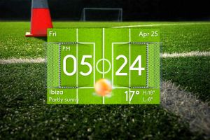 Football Clock Weather for xwidget by jimking
