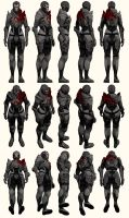 Mass Effect 2, Female Shepard BD Armour Ref by Troodon80