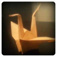 First Crane by Menchieee