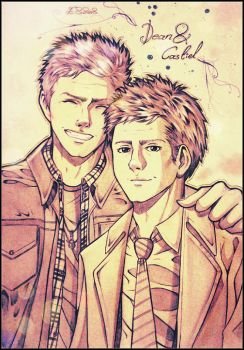 Dean and Cas, SPN by LeviHeichou156