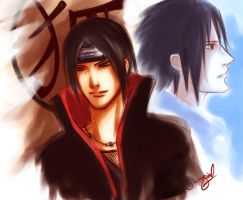 Itachi and Sasuke by stirringwind