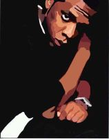 Jay Z, a vectored perspective by breaktheh4bit89