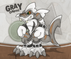 Gray Corrneil 3rd OC by OutLeaf