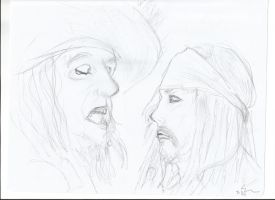 Jack and Barbossa by trickster201