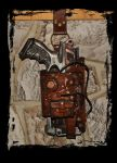 maverick nerf leather holster steampunk by Lagueuse
