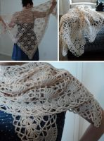 Delicate Fans Shawl by Brookette