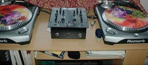2 turntables and a microphone by balikbayan-box