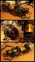 Aperture Steampunk Handheld Portal Device by batman-n-bananas