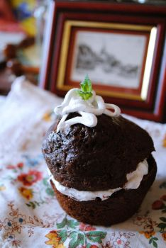 chocolate muffin by MedievalageLady