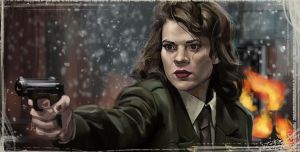 Hayley Atwell Study by t-biddy