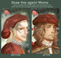 Draw This Again Meme Dd446 Leonardo by BlastedKing