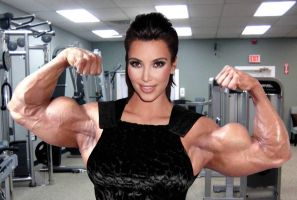 Kim Kardashian Massive Biceps by Turbo99