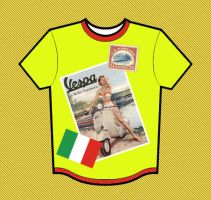 Vespa Holiday T-Shirt by vinciART