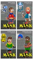 Charicatures Mask Tradingcards Set1 by njelspam