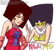 Kiwi and Mozu - One Piece by scadelaide