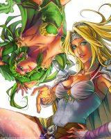 Rosa and Rydia by Soap-Committee