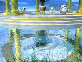 Atlantean Sun Shrine B V 02 by someole3d