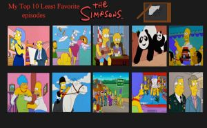 Jefimus' Top 10 Worst Simpsons Episodes by JefimusPrime