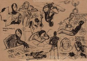 Franque action sketches 4 by PsychedelicMind