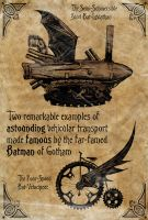 Steampunk Batman Vehicles by kenfreelance