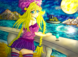 It was a Starry Night + that's a Nice Boat by Sop-sama