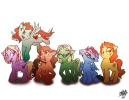 My Little Ponies by Chansey123