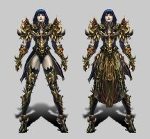thousand demons armor (female, dark lord) by sfucky